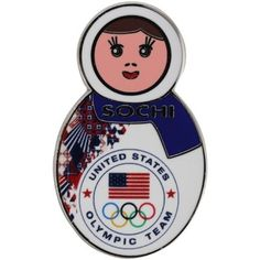 2014 USA Winter Olympics Sochi Nesting Doll Pin