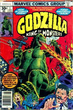 Godzilla #1, August 1977, cover by Herb Trimpe