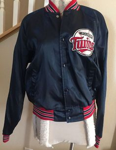 108caf45669 Details about Vintage MINNESOTA TWINS  87 World Series Champion MLB Jacket  Chalk Line LARGE