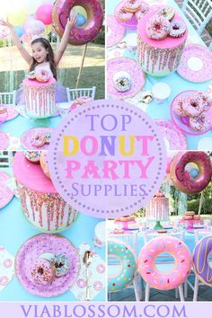 You will love our Donut Party Ideas and Decorations! We have everything you'll … You will love our Donut Party Ideas and Decorations! We have everything you'll need for a Doughnut Party! It is perfect for a Do Not Grow Up Party! Donut Birthday Parties, Birthday Party Themes, Birthday Ideas, 4th Birthday, Donut Party Supplies, Grown Up Parties, Donut Decorations, Vanellope, Dessert