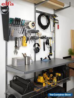 Create the DIY space you've always wanted with Elfa! Contact us today for a free custom design. Garage Organization, Organization Ideas, Custom Shelving, Closet System, Custom Design, Space, Create, Diy, Floor Space
