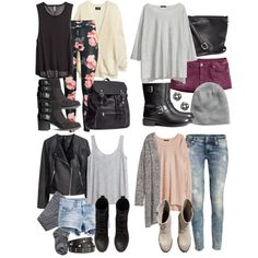 A fashion look from August 2014 featuring H&M sweaters, H&M tops and H&M cardigans. Browse and shop related looks.