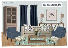 Home with Baxter: Mood Board Monday - Shades of Blue Living Room
