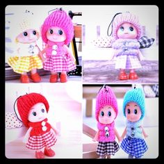 Best Friend Cell Phone Dolls. The two in pic 3 are the ones you will receive. They are great for girls to give the other one to kinda like a friendship bracelet or best friend necklace. They can be looped onto your cell phone or book bag or purse!                               A really cute idea for Valentine's Day too! Accessories