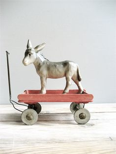 Vintage Petite Wagon - plus the fact that it tows your minature mule is a total plus