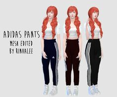 rinvalee: Adidas pants (Pucci Harem Pant - AAStyle) Standalone 3 colors, 2 patterns mesh edited by me Feel free too tag me @rinvalee or #rinvalee if you using my cc :3 If something wrong do not be afraid to write to me. Download: Dropbox