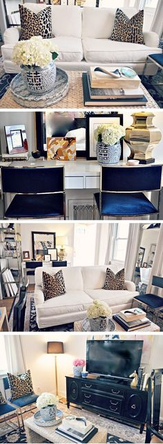 Raiana's Glam Living Room - small space design