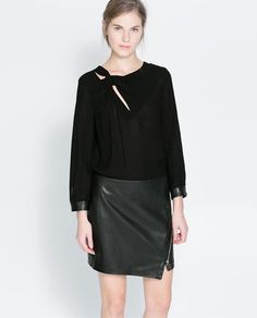 ZARA - NEW COLLECTION - CUT-OUT BLOUSE