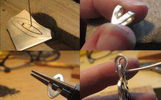 making and riveting a bail. Gracebourne - Bell, Book and Candle: Multi-technique Pendant Tutorial - gancio rivettato per un pendente