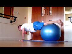 Stability Ball reverse Plank Series Push Up, Jackknife, Pike)