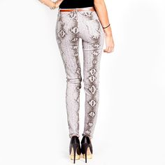 Snake Print Denim~personal collection in red.