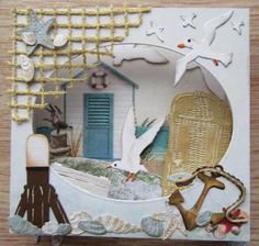 Maria's+kaartjes:+Diorama+strand