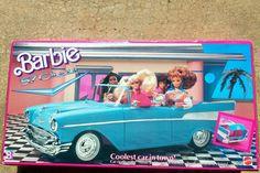 Mattel 1989 Barbie 57' Chevy Convertible Coolest Car Trunk Opens Closes RARE | eBay