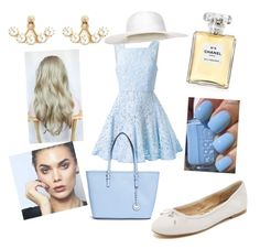 """""""Blue like the sky"""" by natale-tannus on Polyvore featuring Alex Perry, Sam Edelman, Michael Kors, Chanel, Joomi Lim, Accessorize, Color Club, women's clothing, women and female"""