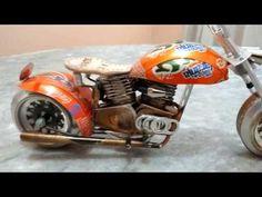 Edson Galvão - Moto feita de Latinha - YouTube
