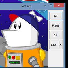 Quickly make an animated GIF of anything. GifCam is a free, portable app for Windows that provides you with a simple frame. Resize and position it, then hit record - everything that happens within that frame will be recorded. It's the easiest way to create your own GIF of just about anything — from desktop demonstrations to clips from any video, online or off. If you love creating GIFs, but wish the process was quicker, you need to check this app out.