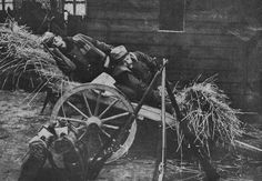 French soldiers take a nap.