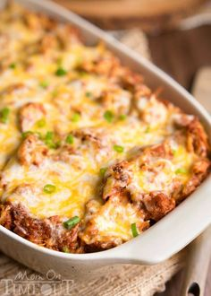 This crowd pleasing recipe is sure to be a hit at your next barbecue or picnic! This Loaded BBQ Pork Potato Casserole is so easy to make and crazy delicious. Comfort food at it's best! // Mom On Timeout Pork Casserole Recipes, Pork Rib Recipes, Pulled Pork Recipes, Casserole Dishes, Meat Recipes, Potato Casserole, Cooking Recipes, Shredded Pork Recipes, Free Recipes