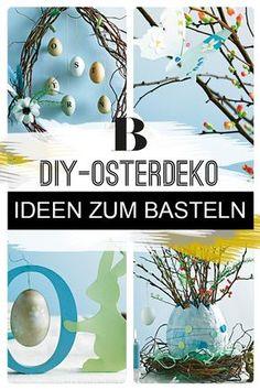 Osterdeko selber machen: Ideen zum Basteln. Es ist wieder Zeit fürs Osterbasteln. Hierfür machen wir nicht nur einen Osterkranz selber, sondern auch ein Osterkörbchen mit Häschen und bunten Eiern. Zahlreiche Bastelideen findet ihr hier.