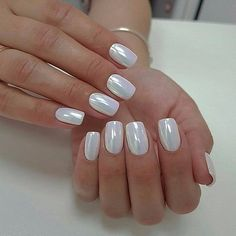In seek out some nail designs and some ideas for your nails? Here is our set of must-try coffin acrylic nails for fashionable women. White Chrome Nails, White Nails, White Sparkle Nails, White Almond Nails, White Nail Art, Nails Polish, Toe Nails, Chrome Nail Polish, White Nail Polish