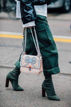Milan Fashion Week Fall 2017 - Street Style via vogue.co.uk