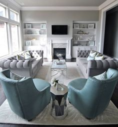 #coolGray #GrayInterior http://www.houseofturquoise.com/2015/12/katie-grace-designs.html?utm_source=feedblitz