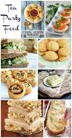 Party Food - For All Ages Tea Party Food - Recipes perfect for a tea party birthday, bridal shower, baby shower or a ladies afternoon tea.Tea Party Food - Recipes perfect for a tea party birthday, bridal shower, baby shower or a ladies afternoon tea. Bridal Shower Tea, Tea Party Bridal Shower, Bridal Showers, Shower Baby, Bridal Shower Recipes, Baby Showers, Food For Baby Shower, Menu Brunch, Tea Party Menu
