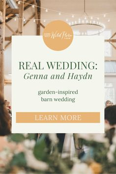 Read the process Wild Flora Farm goes through to incorporate contrasting yet complimentary tones to wedding color palettes. Soft mustard and golden peach compliment the blue hue of the bridesmaids dresses beautifully. Then, look inside the wedding gallery and take inspiration from Genna   Haydn's outdoor garden-themed barn wedding and see how Wild Flora Farm was able to create a stunning floral wall backdrop.