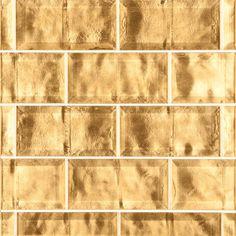 "ANN SACKS Michael S Smith Gilt 3"" x 6"" beveled brick glass field in antique goldleaf"