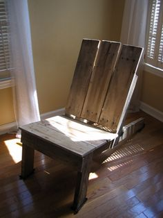Adirondack style chair made from pallets.