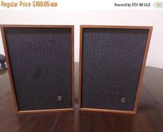 Pair of Rare Vintage Norelco (Philips) Bookcase Speakers Wood Cases Type 22GL559/44 Perfect Condition. If you want a nice pair of Vintage Speakers with killer sound, look no further!!! They measure 7 1/8 inches wide by 7 1/2 inches deep and stand 10 1/2 inches tall. Made in Holland,