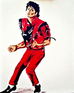 16x20 inch painting of the great Michael Jackson. Thiller themed art perfect for…