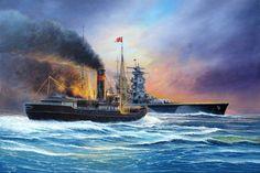 Hundimiento del rompehielos Sybiriakov por el Admiral Scheer en el Mar de Kara, el 25 de agosto de 1942. La incursión del Scheer, código Operación Wunderland, tenía por objetivo destruir los barcos soviéticos que se refugiaban allí, gracias a la valentía de la tripulación del Sybiriakov, que se negó a rendirse, e incluso hizo fuego con sus cañoncitos de 76mm contra el coloso germano, ganaron tiempo para radiar la alerta, lo que frustró el plan alemán. Más en www.elgrancapitan.org/foro