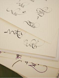 Nicolas Ouchenir, Fashion's Pen and Ink - Best Handwriting in Paris
