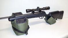 Large Shooting Bag Set Rifle Gun Rest Range Gear Front & Rear Bags #ClassicSafari