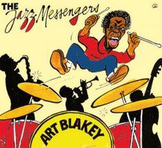 Cabu 2010 Art Blakey & The Jazz Messengers - Une Anthologie, 1947-1957 (Cabu Jazz Masters) [BDJazz CABU-547] #albumcover #portrait #comics