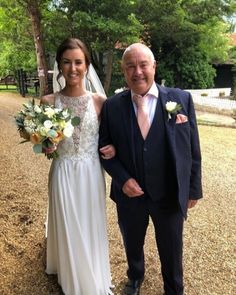 Rachel with the Father of the Bride!