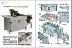 potting bench project plan http://www.handymanclub.com/projects/articletype/articleview/articleid/6064/potting-bench-woodworking-plans