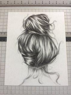 """Original charcoal drawing of """"Naomi"""" -"""