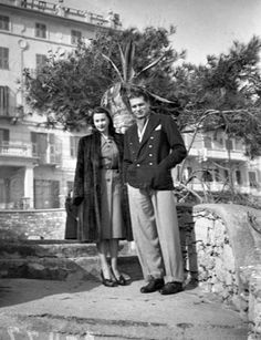 Viv and Larry in Venice in 1947