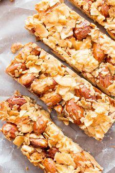 3 Ingredient Homemade KIND Coconut Almond Bar