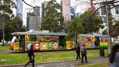 Melbourne's new art tram.