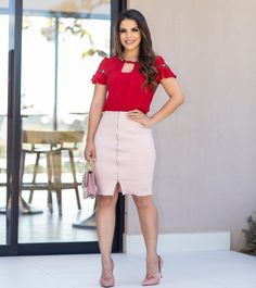Office Wear Dresses, My Wardrobe, Ideias Fashion, High Waisted Skirt, Sexy Women, Casual, Formal, How To Wear, Clothes