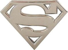 Superman Chrome Buckle Superman Man Of Steel, Chrome, Accessories, Ornament