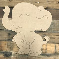 Unfinished Wood Crafts, Wooden Crafts, Picture Letters, Wooden Picture Frames, Wooden Cutouts, Wooden Shapes, Cartoon Elephant, Wooden Door Hangers, Letter A Crafts