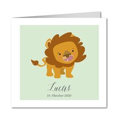 Geburtskarte Löwenjunge (R-5654)