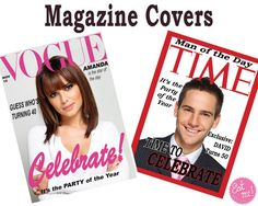Magazine Covers Personalised Edible Image by EatMeEdibleImages