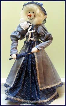 Nellie Snowlady Victorian Doll ePattern designed by Linda Walsh - On Doll Street Dreamers