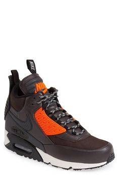 Air Max 90 Winter' Sneaker Boot (Men) Built for cold weather, this on-point sneaker-boot features hot retro style and sporty appeal in spades.