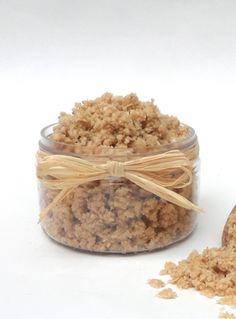 Oatmeal Coconut Cookie Scrub. 1/2 cup oatmeal, 1tbsp brown sugar, 2tbsp white sugar, 1tsp baking soda, 6tbsp coconut oil.  Make oatmeal flour, combine, scrub